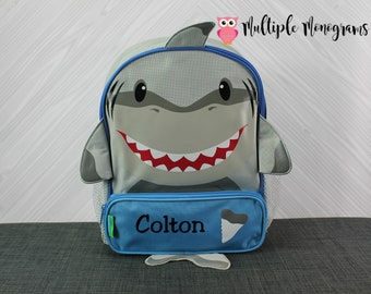 Shark Sidekick Backpack toddler preschool kids FREE Personalization
