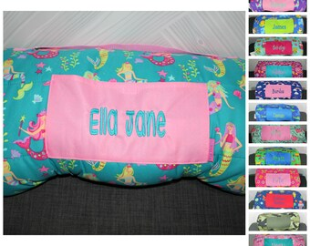 Stephen Joseph Mermaid Nap Mat with pillow and blanket attached FREE personalization