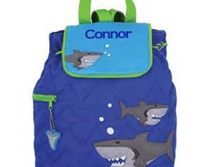 Shark Backpack toddler preschool kids FREE Personalization