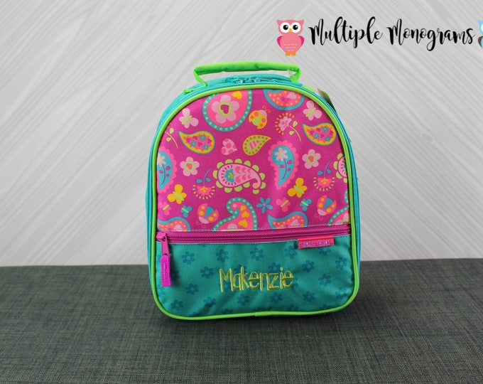 Paisley Lunchbox toddler preschool kids FREE personalization