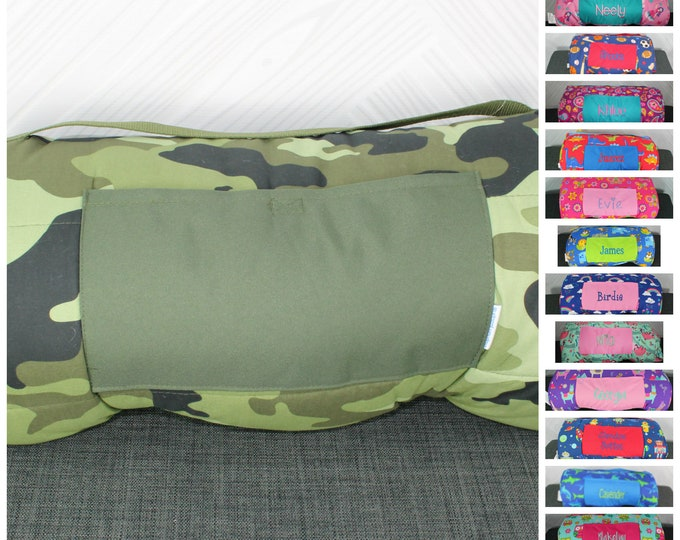 Stephen Joseph Camo Nap Mat with pillow and blanket attached FREE personalization