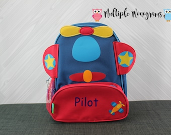 Airplane NEW Style Sidekick Backpack toddler preschool kids FREE Personalization NEW design