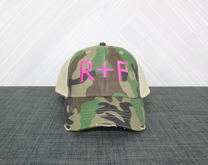 Rodan + Fields R+F Trucker Hat multiple colors available, distressed baseball cap