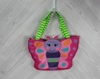 Butterfly Beach Tote toddler kids FREE personalization and sand toys included