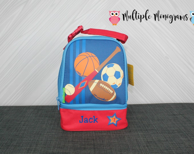 Sports Lunchbox toddler preschool kids FREE personalization NEW design