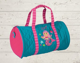 Mermaid Kids Duffel Bag FREE Embroidery Personalization