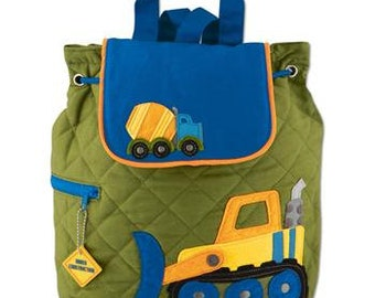 Construction Backpack toddler preschool kids FREE Personalization