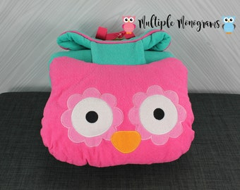 Stephen Joseph Owl Nap Mat with pillow and blanket attached FREE personalization