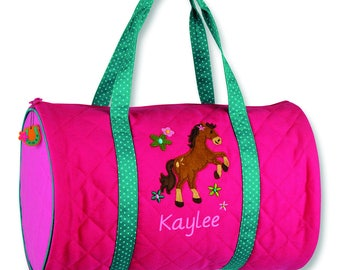 Horse Kids Duffel Bag FREE Personalization