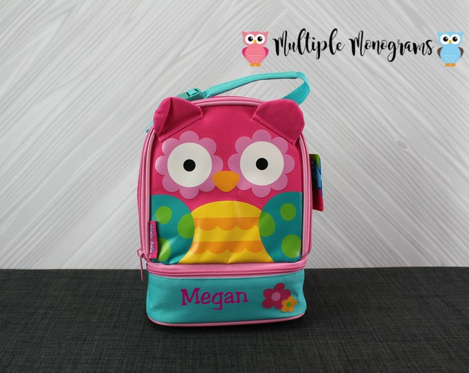 Owl Lunchbox toddler preschool kids FREE personalization