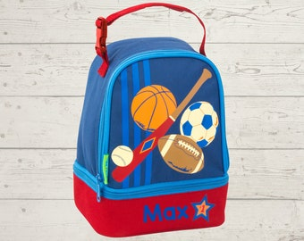 Sports Lunchbox toddler preschool kids FREE Embroidery personalization NEW design
