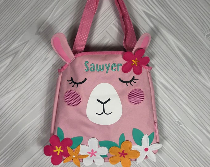 Llama Beach Tote toddler kids FREE personalization and sand toys included