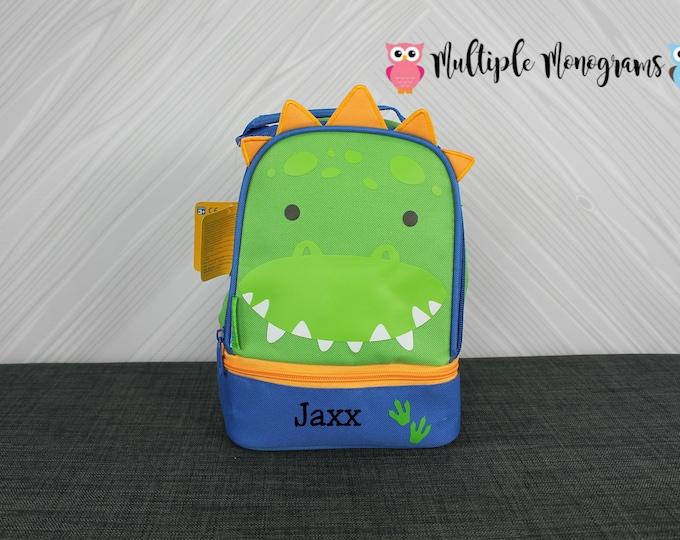 Dinosaur Lunchbox toddler preschool kids FREE personalization NEW design