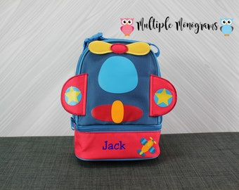 Airplane Lunchbox toddler preschool kids FREE personalization
