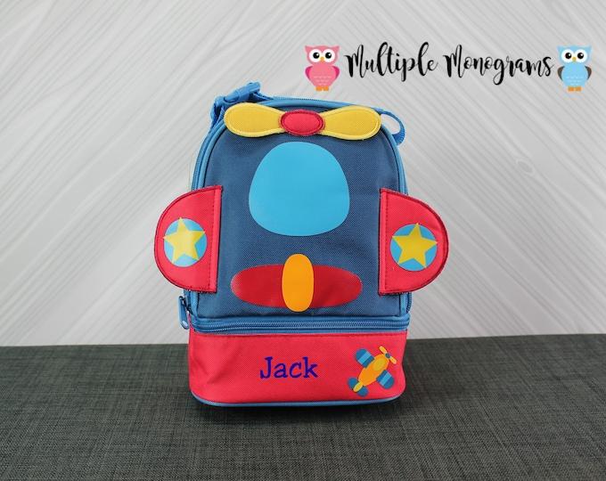 Airplane Lunchbox toddler preschool kids FREE personalization