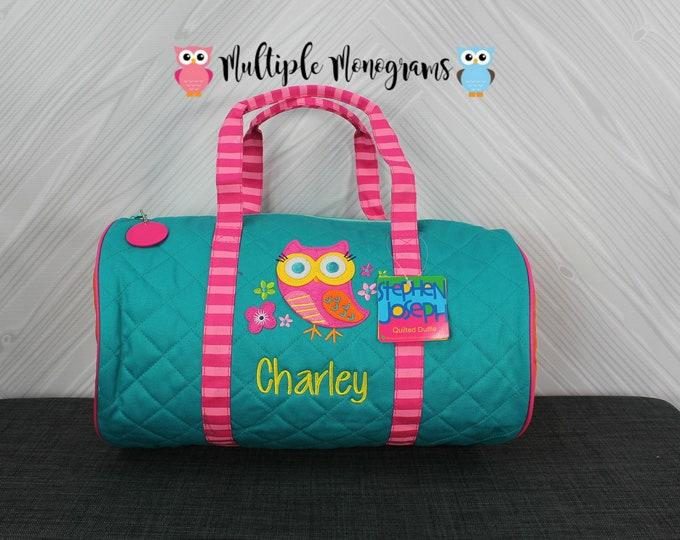 Owl Kids Duffel Bag FREE Personalization