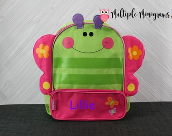 Butterfly Sidekick Backpack toddler preschool kids FREE Personalization