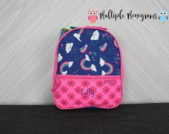 Rainbow Lunchbox toddler preschool kids FREE personalization