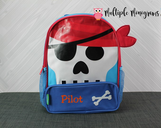 Pirate Sidekick Backpack toddler preschool kids FREE Personalization