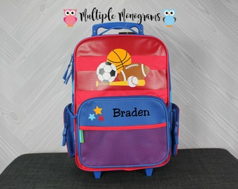 Sports Rolling Luggage toddler preschool kids FREE personalization Carry On Size Luggage