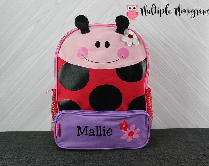 Ladybug Sidekick Backpack toddler preschool kids FREE Embroidery Personalization