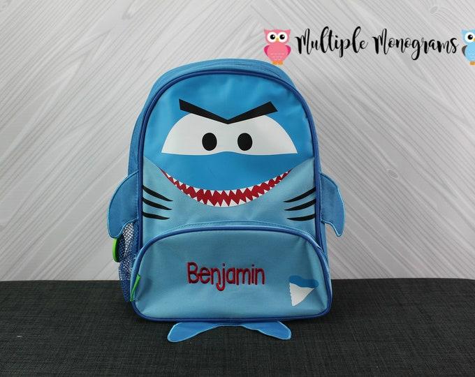 Shark NEW Style Sidekick Backpack toddler preschool kids FREE Personalization NEW design