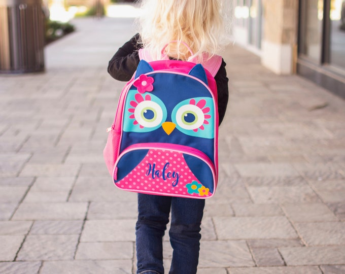 Owl NEW Style Sidekick Backpack toddler preschool kids FREE Embroidery Personalization NEW design