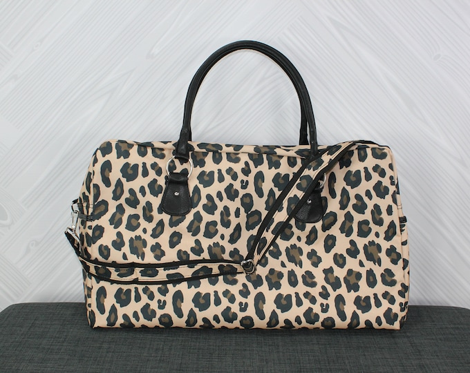 Women's Travel Bag Animal Print FREE Personalization Perfect for a weekend getaway
