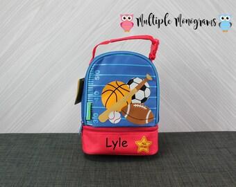Sports Lunchbox toddler preschool kids FREE personalization