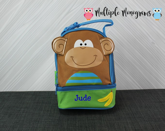 Monkey Lunchbox toddler preschool kids FREE personalization
