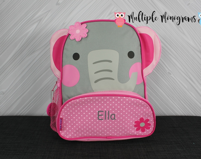 Elephant NEW Style Sidekick Backpack toddler preschool kids FREE Personalization NEW design