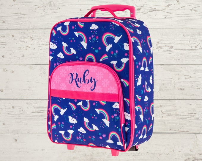 Rainbow All Over Print Rolling Luggage FREE Embroidery Personalization