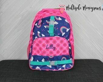 Rainbow Backpack toddler preschool kids FREE Personalization