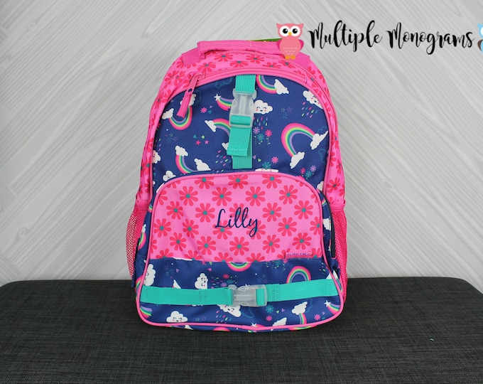 Rainbow Backpack toddler preschool kids FREE Personalization