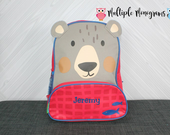 Bear NEW Style Sidekick Backpack toddler preschool kids FREE Personalization NEW design