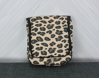 Hanging Travel Pouch Toiletry Bag Animal Print FREE Personalization