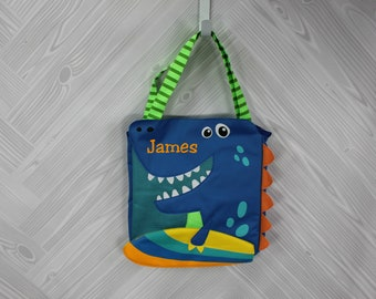 Dinosaur Beach Tote toddler kids FREE personalization and sand toys included