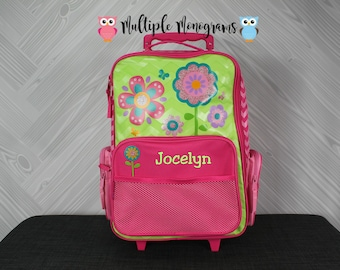 Flower Rolling Luggage toddler preschool kids FREE personalization Carry On Size Luggage