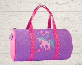 Unicorn Kids Duffel Bag FREE Embroidery Personalization