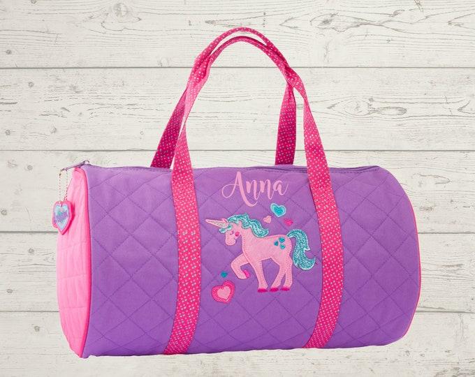 Unicorn Kids Duffel Bag FREE Embroidery Personalization