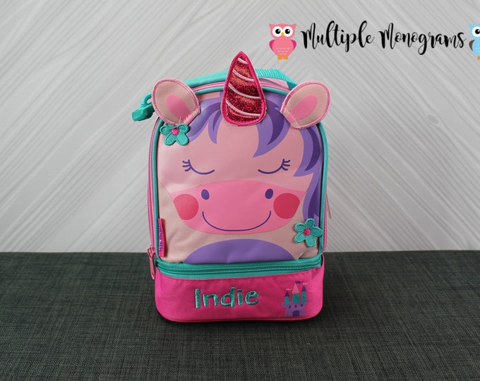 Unicorn Lunchbox toddler preschool kids FREE personalization