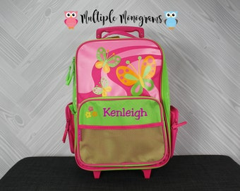 Butterfly Rolling Luggage toddler preschool kids FREE personalization Carry On Size Luggage