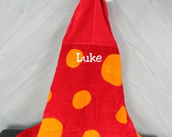 Crab Hooded Beach Towel toddler kids FREE personalization