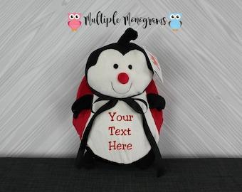 Personalized Ladybug stuffed animal. Baby Shower Adoption New Baby Baptism Birthday Christmas Gift