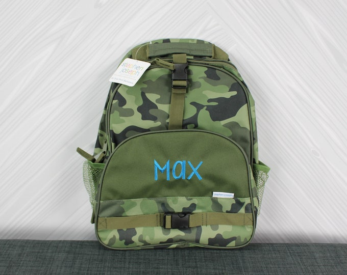 Camo Backpack toddler preschool kids FREE Personalization