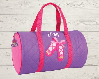 Ballet Dance Kids Duffel Bag FREE Embroidery Personalization