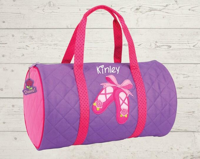 Ballet Dance Kids Duffel Bag FREE Embroidery Personalization