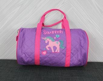 Unicorn Kids Duffel Bag FREE Personalization