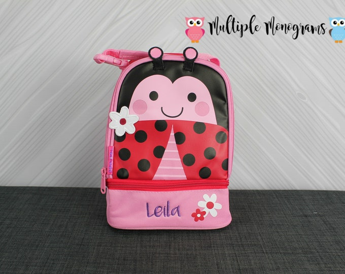 Ladybug Lunchbox toddler preschool kids FREE personalization NEW design
