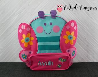 Butterfly Sidekick Backpack toddler preschool kids FREE Personalization